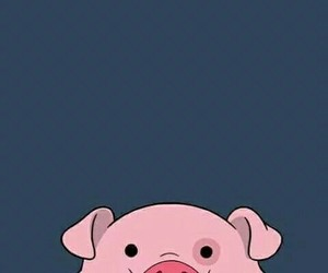 wallpaper, pig, and pato image