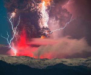 nature, lightning, and sky image