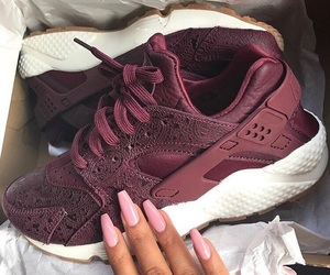 shoes, nike, and nails image