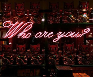 neon, red, and quotes image