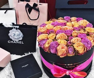 flowers, luxury, and chanel image