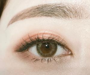 eye, eyebrows, and makeup image