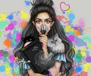 девушка, любовь, and краски image