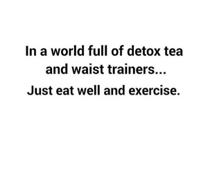 quote, fitness, and tea image