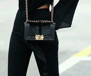 chanel, ripped jeans, and all black image