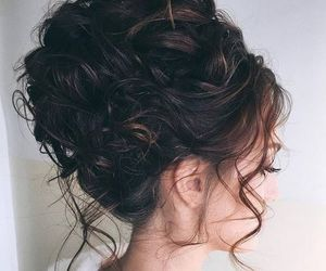 bride, hairsyle, and brown hair image