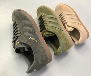 shoes, sneakers, and green image