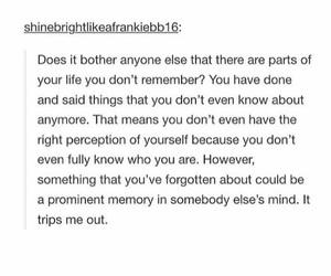 memories, perception, and tumblr image