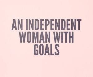quotes, woman, and goals image