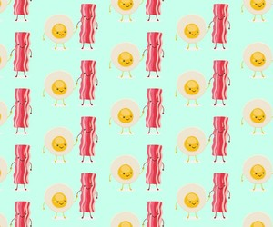 bacon, egg, and green image