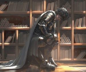 art, knight, and wlop image