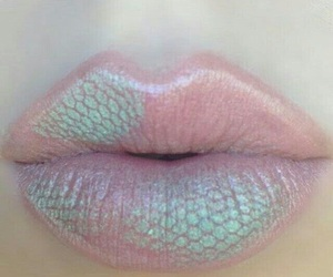 lips, mermaid, and pink image