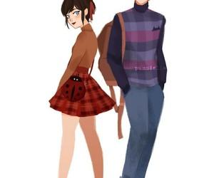 Adrien, marinette, and ladybug image