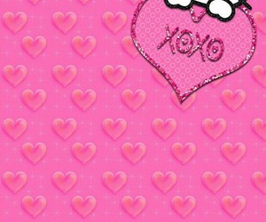 background, glitter, and heart image