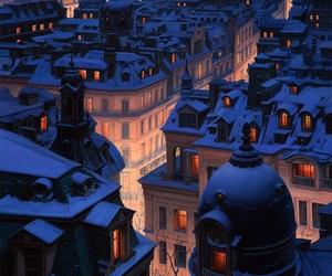 night and snow image