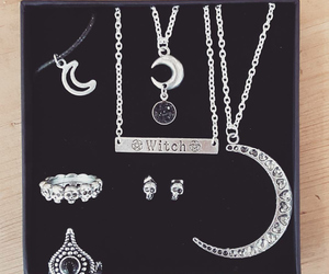 gift, moon, and necklace image