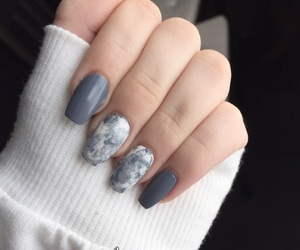 grey, marble nails, and marble image