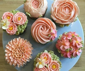 cupcakes, dessert, and flower image
