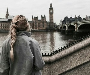girl, london, and travel image