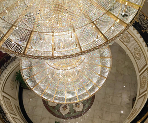 luxury, chandelier, and diamond image