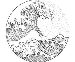 waves and white image