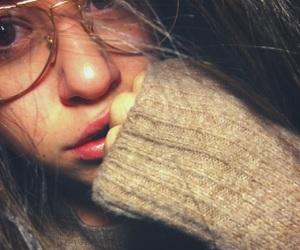 girls, tumblr, and glasses image
