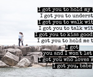 couple, Lyrics, and easel image