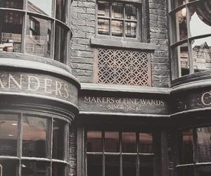 harry potter, hogwarts, and ollivanders image
