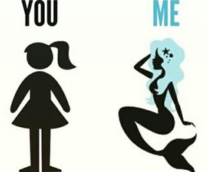 mermaid, me, and you image