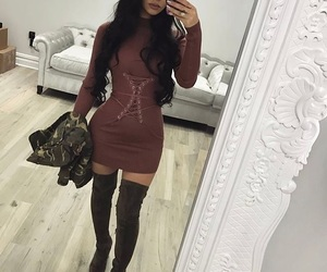 fashion, makeup, and boots image