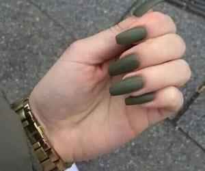nails, green, and tumblr image