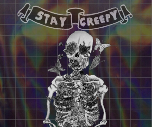 creepy, stay, and wallpaper image