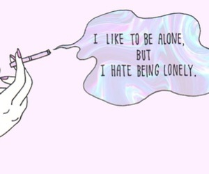 alone, grunge, and lonely image
