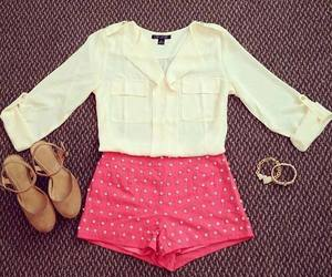 clothes, shoes, and shorts image