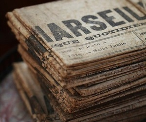 old, vintage, and newspaper image