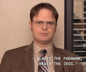 dwight, funny, and jedi image
