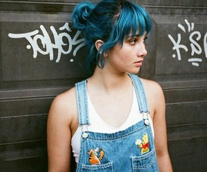 blue hair, makeup, and chiquifairy image