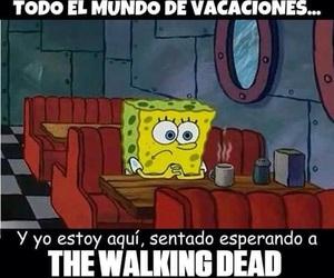 bob esponja, sponge bob, and the walking dead image