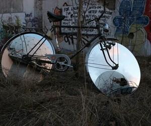 bike, mirror, and theme image