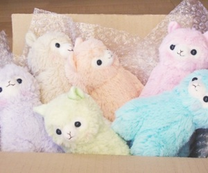 alpaca, kawaii, and pastel image