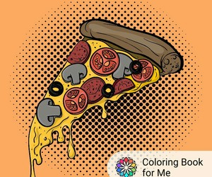 color and pizza image