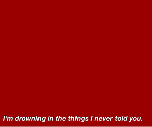 drowning, red, and sad image