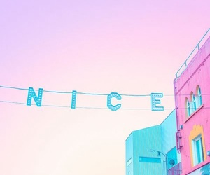 pink, nice, and blue image