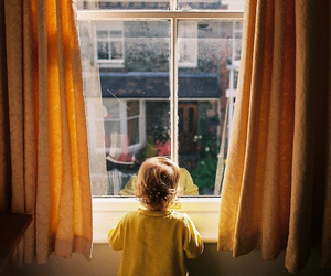 child, vintage, and window image