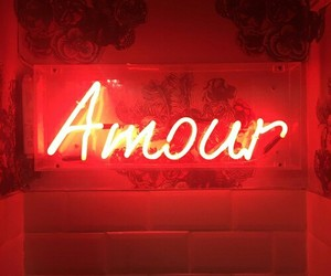 amour, quote, and red image