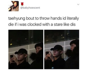 bts, taehyung, and bts meme image