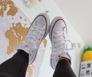 shoes, white, and converse image