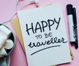 lettering and travel image