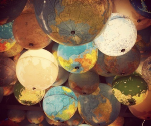 world, light, and globe image
