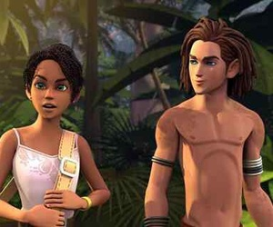 animated, interracial, and couple image